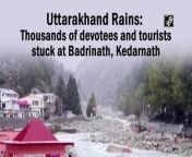 """Heavy rains have thrown life out of gear in Uttarakhand on October 18. Around 2,000 devotees got stuck at Kedarnath and 2,800 devotees at Badrinath.<br/><br/>Uttarakhand Health Minister Dr Dhan Singh Rawat said, """"Administration has taken all the necessary steps to counter the damage caused by rain, around 2,000 tourists are stuck at Badrinath and 2,800 devotees are stuck at Kedarnath."""""""